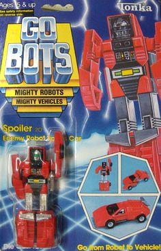 Gobots spoiler   gobots spoiler transforming robot tonka sold