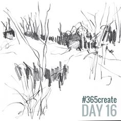 Draw while the kettle boils! Today I had a view of woodland but anything counts. Day16 in #365create Alice Sheridan