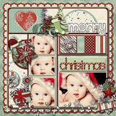 Christmas scrapbook page