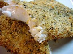 Parmesan Crusted Catfish Filets Made this tonight with asparagus