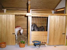 My Miniature Menagerie: Scale Modern Barn - Pt. Toy Horse Stable, Horse Stables, Horse Barns, Bryer Horses, Mini Barn, Toy Barn, Horse Wedding, Modern Barn, Firs