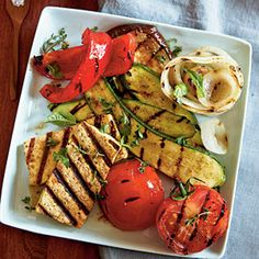 20 Grilled Vegetarian Entrees  | Grilled Tofu with Ratatouille Vegetables | MyRecipes.com