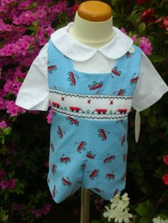 BOYS RED CORDUROY LONG HOLIDAY APPLIQUED JON JON CLAIRE /& CHARLIE BOUTIQUE