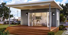 The Monaco is a studio granny flat, where the living space duals as a bedroom.  It features a tiled  ...