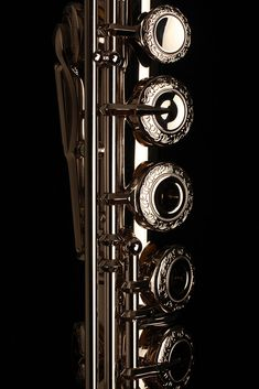 "fluteheaven: "" Platinum Clad Muramatsu flute with engraved keys """