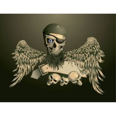 Vector Pirates kallo Emblem iso siivet kuva