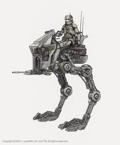 Star Wars Cutaway: AT-RT Transport, used during the Clone Wars. Star Wars Day, Star Wars Clone Wars, Star Trek, Maquette Star Wars, At Rt, Star Wars Drawings, Star Wars Personajes, Star Wars Vehicles, Star Wars Models