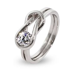 very cool --- size 5.5 or 6....Please and thank you :-)  Sterling Silver Eternal Love Knot Ring $70