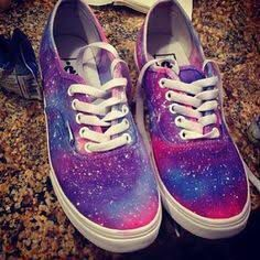 Wow look at these Galaxy shoes they are awesome