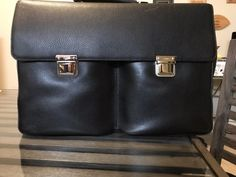 Cartier Paris Large Brown Grained Calfskin Attache Briefcase (BLEMISHED) ($2000) (eBay Link)