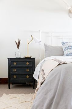 BECKI OWENS- Splurge and Save Table Lamps - Midcentury task lamp in my Heber Project - get the look for less today on the blog.