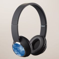 Blue Sky with Clouds Photo Headphones - individual customized unique ideas designs custom gift ideas