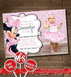 HUGE SELECTION Minnie Mouse Birthday Invitation, Minnie Mouse Invitation, My Celebration Shoppe, Printable Invitations, Disney Invitation on Etsy, $7.50