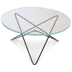 O soffbord, glas/svart i gruppen Möbler / Bord / Soffbord hos RUM21.se (1024970)