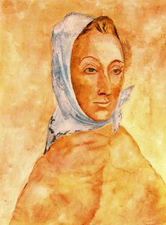 Portrait of Fernande Olivier in headscarves, 1906  Pablo Picasso