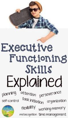 Executive Functioning Skills - Executive functions are essentially the building blocks for completing all tasks in life (in school and beyond). Any educator can help to teach and support these critical skills. Social Emotional Learning, Social Skills, Social Issues, Social Work, Study Skills, Life Skills, Learning Skills, Study Tips, Adhd Strategies
