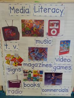 The book: Arthur's TV Trouble to introduce the concept of media literacy. The book is perfect for showing students how media creates a particular message, spin, tools of persuasion, and how to evaluate messages based on our own experiences. Library Lesson Plans, Library Skills, Library Lessons, Reading Lessons, Reading Skills, Teaching Reading, Library Ideas, Teaching Ideas, Media Literacy