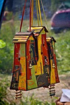 Unique Birdhouses | 15 Smart Recycling Ideas for Making Unique Birdhouses