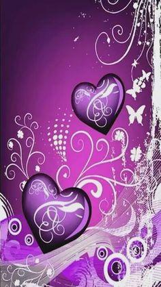 Purple swirly hearts