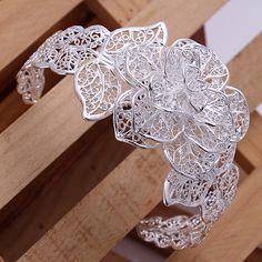Flower Open Cuff Bracelet