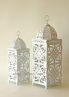 Wonderful Moroccan Lanterns For Home Or Wedding Decoration Ideas: White Metal Moroccan Lanterns For Home Decoration Ideas