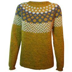 Strikkeopskrift sweater - model Søster Nina. Strikket i Tvinni fra Isager. Klassisk men alligevel anderledes flot sweater Kan strikket i et væld af farver - væl