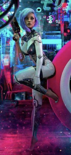 Mode Cyberpunk, Cyberpunk Girl, Cyberpunk Aesthetic, Cyberpunk Fashion, Cyberpunk 2077, Cyberpunk Anime, Fantasy Art Women, Fantasy Girl, Female Character Design