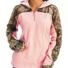 huntworth pink & camo hoodie