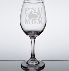 Penn State Etched Mom Wine Glass, PSU Mom, Penn State Football, College Gift Ideas, Penn State University, Etched Wine Glass by LightedBottle…