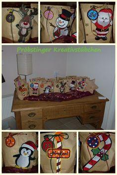 Adventskalender 2013 Stickdatei: Frosty & Friends und Adventskalender-Christbaumkugeln by Fadenzauber