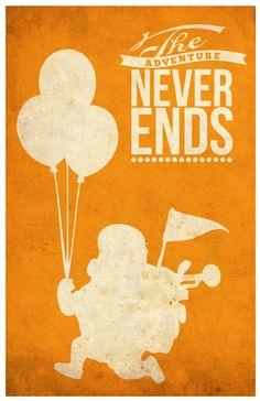 Up (2009) ~ Pixar Movies' Quote Posters by SanaSini #amusementphile