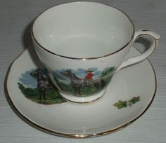 Duchess RCMP Cup & Saucer Set Bone China England Royal Canadian Mounted Police  #Duchess