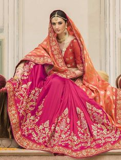Indian Wedding Saree Latest Designs & Trends Collection includes beautiful styles of bridal wear sarees for Pakistani, Bengali, Asian women!