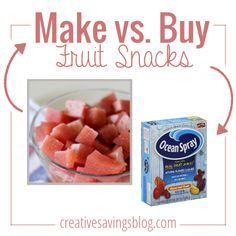 Make fruit snacks that are actually good for you {and your kids!} with this easy homemade recipe. Uses all-natural ingredients, is bursting with flavor, and makes the perfect afternoon snack without the guilt!
