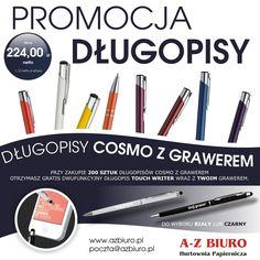Nowa super cena na długopisy Cosmo z grawerem + Gratis http://azbiuro.pl/pl/promocje/az_dlugopisy_09_2014 Promocja trwa do 31.10.2014 r.