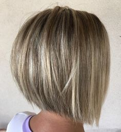 Layered Inverted Bob For Straight Hair