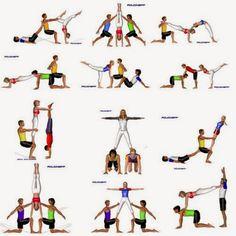 Billedresultat for acrosport Acro Yoga Poses, Bikram Yoga, Dance Poses, Kundalini Yoga, Yin Yoga, Yoga Meditation, Couple Yoga, Partner Yoga, 3 Person Yoga Poses
