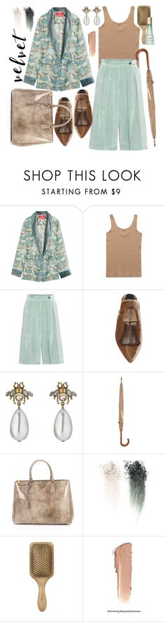 """It's Velvet, Baby!"" by j477 ❤ liked on Polyvore featuring F.R.S For Restless Sleepers, Wood Wood, Dries Van Noten, Sanayi 313, Gucci, Prada, NARS Cosmetics, Benefit, contest and velvet"
