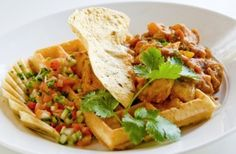 Image Gallery | Ramsgate KZN South Coast | The Waffle House    Chicken curry on a waffle, who would have thought? But omw does it taste amazing!