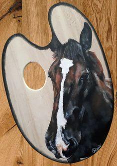 Acrylique/peinture/palettedepeintre/palette/cheval/horse/contemporain/peinture/réalisme/tableau/acrylique/illustration/graphisme/paint/Poppix' 27x18cm Cow, Moose Art, Palette, Illustration, Animals, Acrylic Board, Painted Canvas, Horse, Black N White