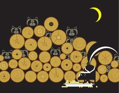 Matthew Rea DEsign - Interface DEsign with people in mind Charley Harper, Love Illustration, Cute Art, Night Creatures, Raccoons, Graphics, Interface Design, Embroidery, Prints