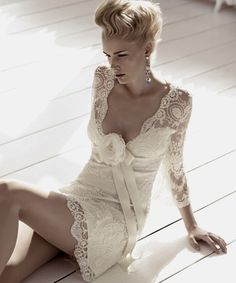 short wedding dress!