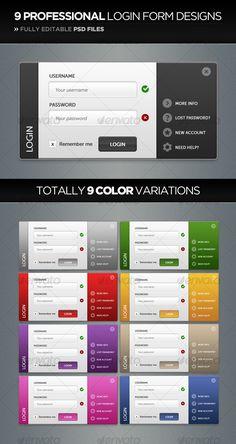 36 Beautiful Login Page/Form Designs | ☆UI | Pinterest | Form ...