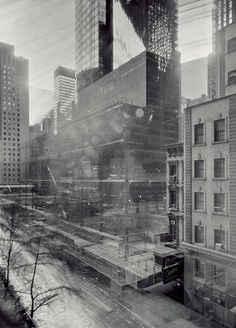 Michael Wesley, Long exposure pinhole camera technique (exposing over months, whilst new buildings are constructed)