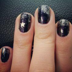 Black, purple and glitter