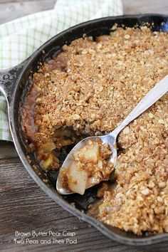 Brown Butter Pear Crisp on twopeasandtheirpod.com The brown butter makes this fall crisp extra special!