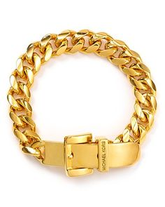 Michael Kors Gold Skinny Buckle Bracelet Jewelry & Accessories - Jewelry - All Jewelry - Bloomingdale's Jewelry Roll, Bling Jewelry, Jewelry Bracelets, Jewelry Accessories, Gold Jewellery, Jewlery, Silver Jewelry, Fashion Accessories, Cheap Michael Kors