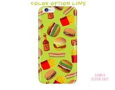 Hamburger iPhone 6 Plus Case iPhone 6s Case by BannerDesignShop