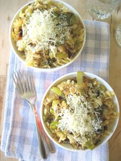 Pasta with Caramelized Leeks