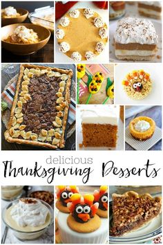 20 Delicious Thanksgiving Desserts For A Crowd, For Two and Kids! Sweet recipes that are the perfect ending to Thanksgiving dinner! #thanksgiving #desserts #pie #cheesecake #fall #autumn #food #recipes #crowd #kids Dessert Recipes For Kids, Desserts For A Crowd, Healthy Dessert Recipes, Easy Desserts, Delicious Desserts, Thanksgiving Recipes, Holiday Recipes, Kids Thanksgiving, Scones